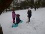 Výtvarné sněhové tvoření žáků